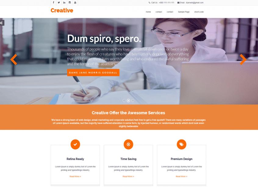 Weblizar CREATIVE Premium Theme