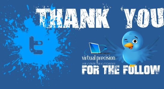 Twitter Thank You for Follow