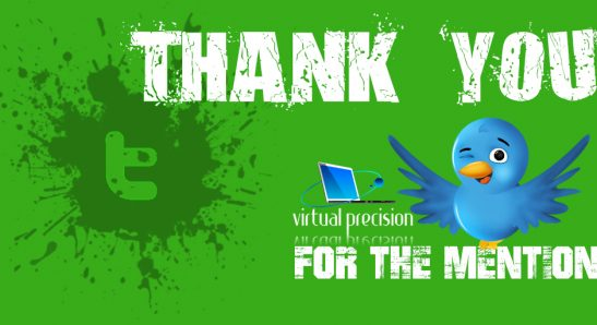 Twitter Thank You for Follow GREEN MENTION