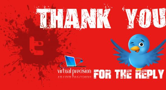 Twitter Thank You for Follow RED REPLY