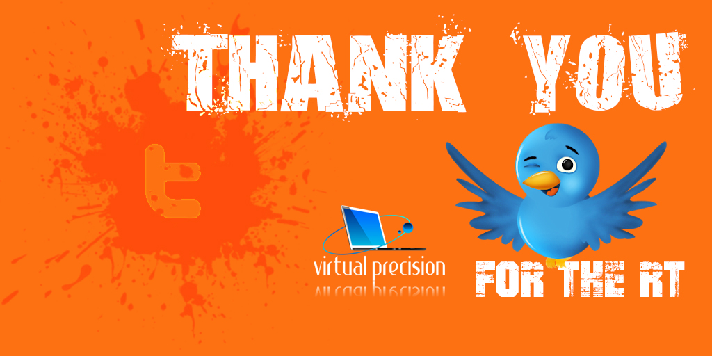 Twitter Thank You forthe RT ORANGE THURSDAY