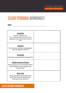 Client Persona Worksheet