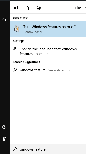 windows feature