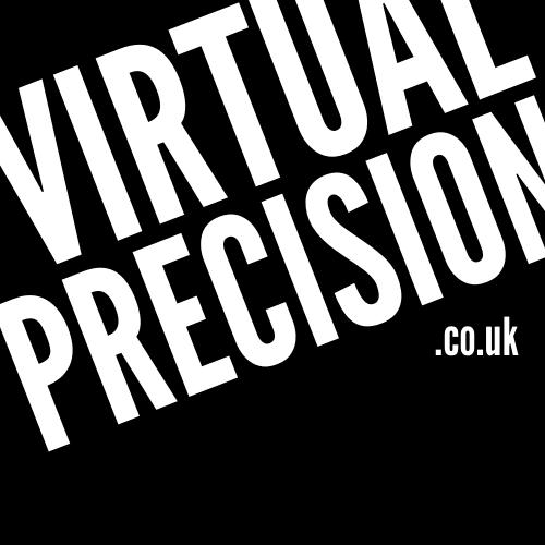 Virtual Precision Logo Black